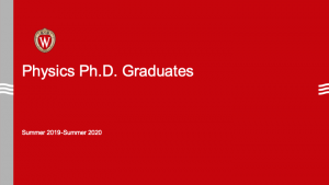 intro slide for the grad student graduates