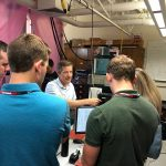 Mark Eriksson gives a tour of his research lab