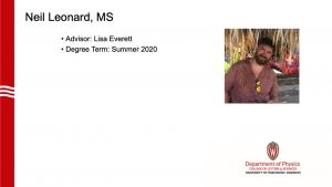 graduate's name, advisor and a profile photo