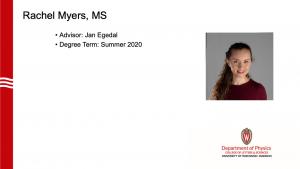 graduate's name, advisor and profile photo
