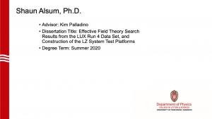 slide lists info about graduate. advisor: palladino