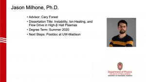 slide lists info about graduate. Advisor: Forest. next steps: postdoc at UW