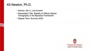 slide lists info about graduate. Advisor: Li and Everett