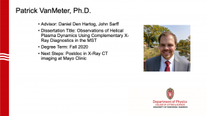 image notes info about graduate. advisors: Den Hertog and Sarff; is now a postdoc at Mayo Clinic